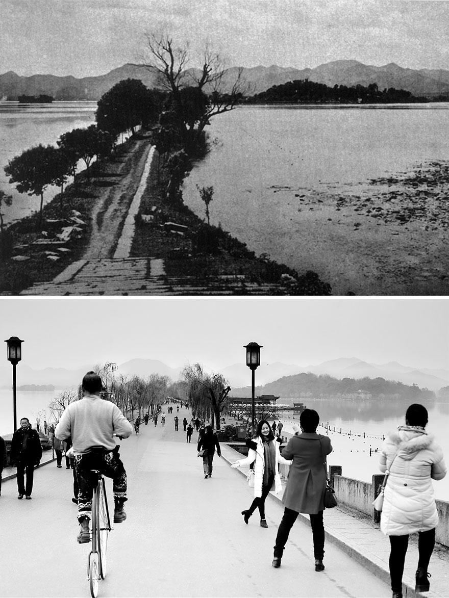 Город Ханчжоу, 1900-е годы и 2016 год
