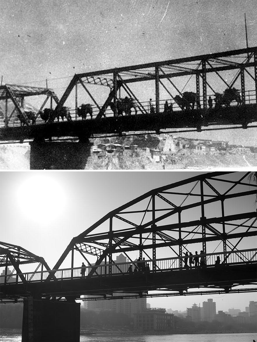 Ланьчжоу в 1910 и 2016 годах