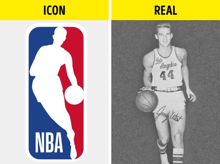 Логотип НБА и Джерри Уэст