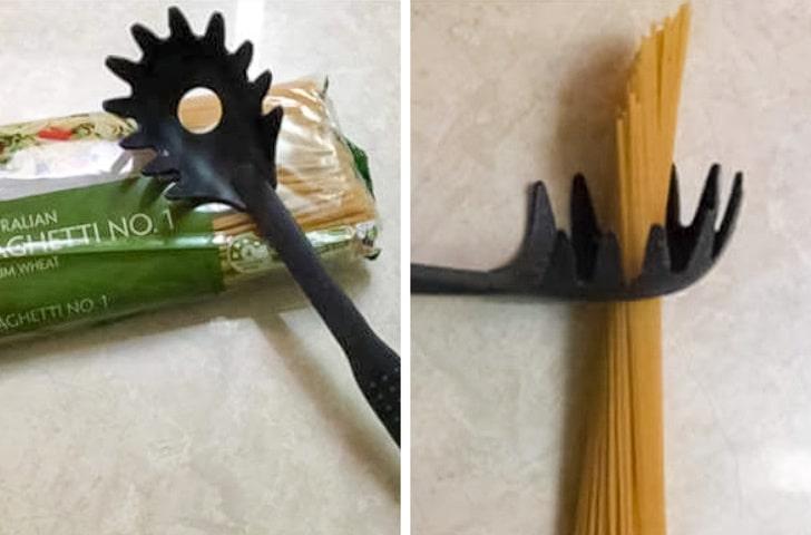 Отверстие в ложке для спагетти