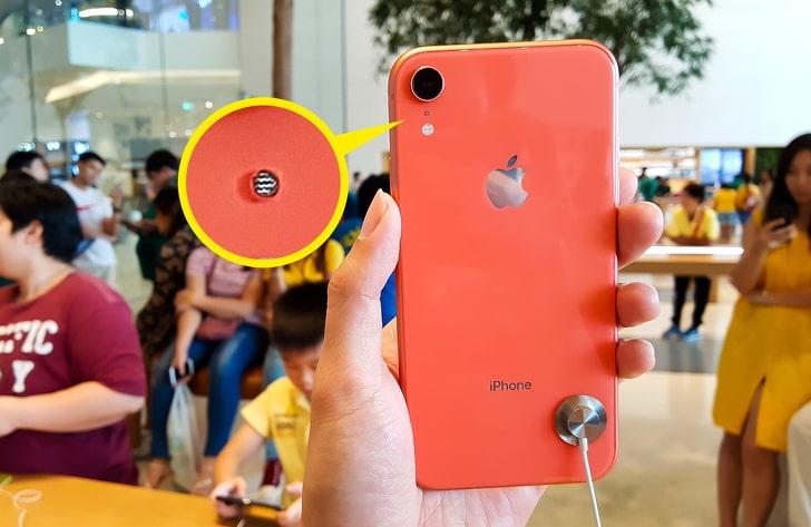 Точка около камеры в iPhone