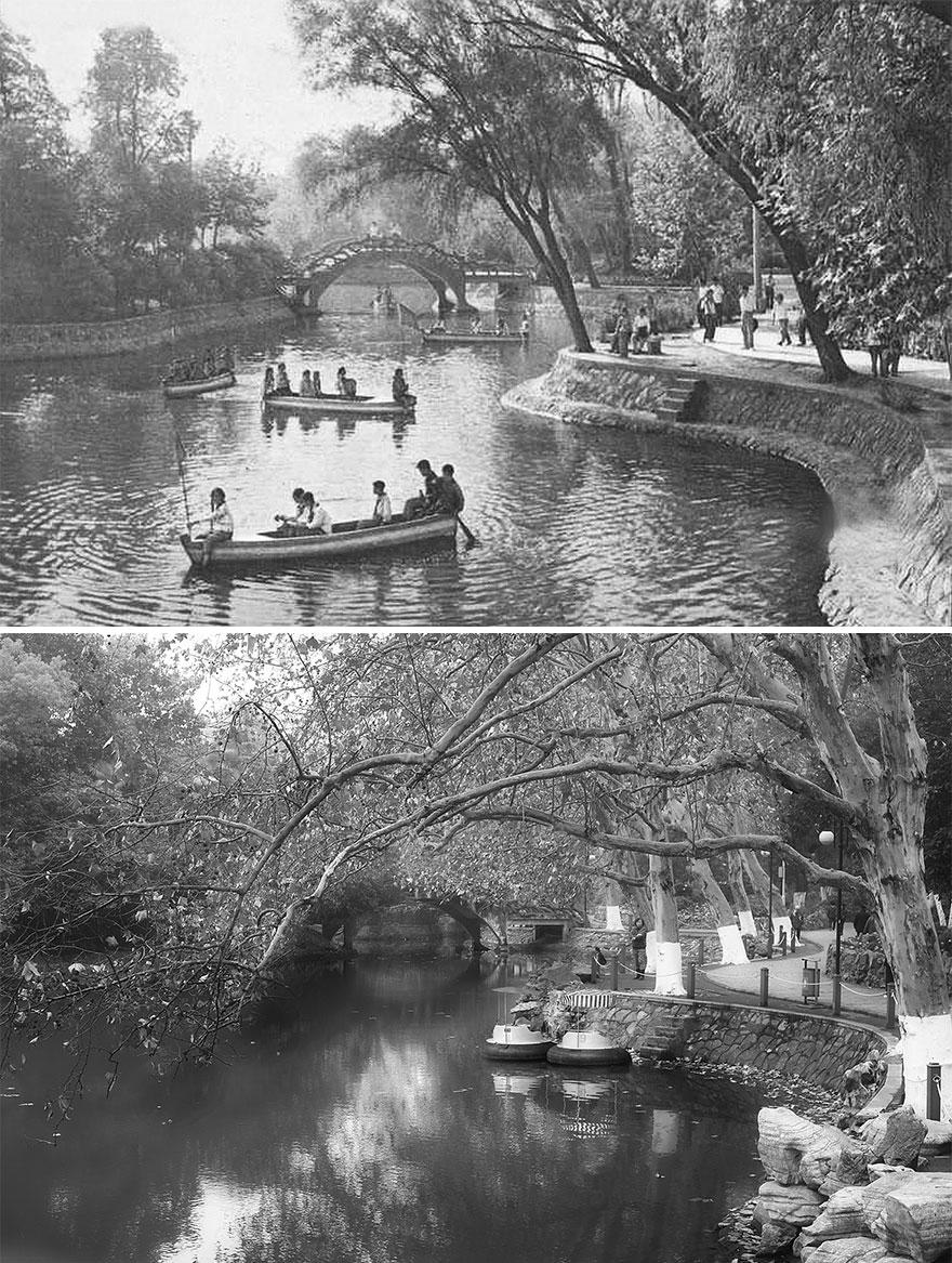 Ухань в 1960 и 2016 годах