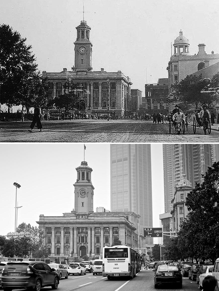 Ухань в 1927 и 2016 годах