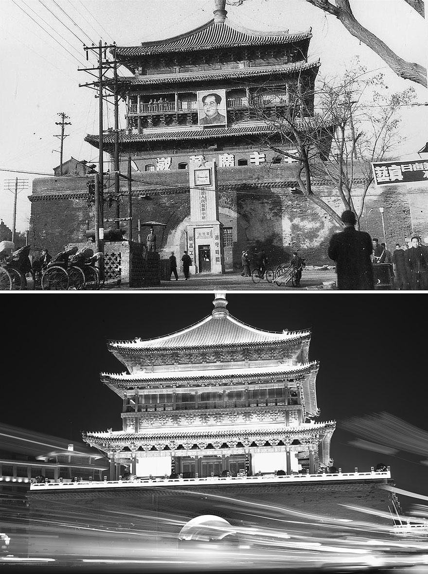 Сиань в 1949 и 2016 годах