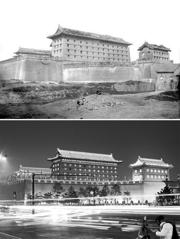 Сиань в 1921 и 2016 годах
