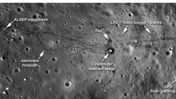 места посадок лунных модулей