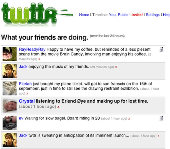 Twitter в 2006 году