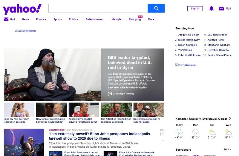 Yahoo в 2019 году