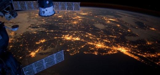 Ночные города России: фото из космоса