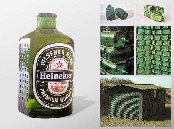 Бутылки-кирпичи Heineken