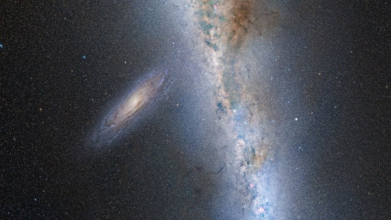 Столкновение галактик Млечный Путь и Туманность Андромеды