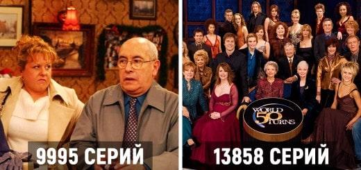 Топ 10 самых длинных телесериалов в мире