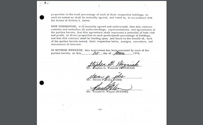 Документ создания Apple Computer Company