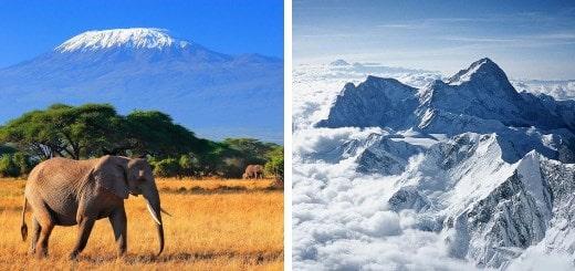 Какие самые высокие горы на каждом континенте?