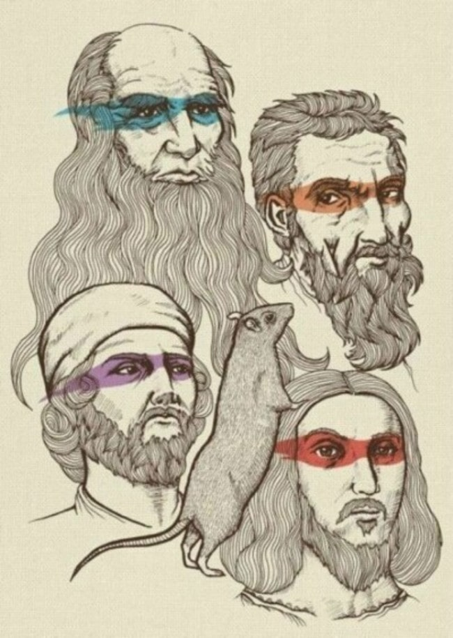 Донателло, Леонардо, Микеланджело, Рафаэль