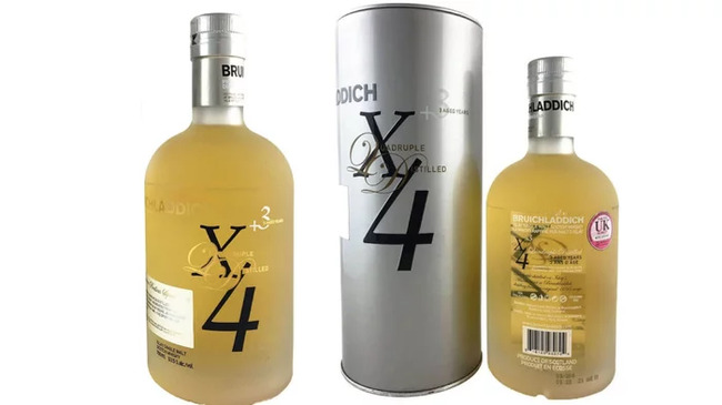 3. Bruichladdich X4 Quadrupled Whiskey (92% Alcohol)