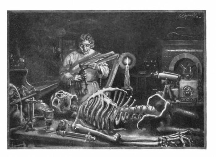 Иллюстрация из раннего издания Франклинштейна