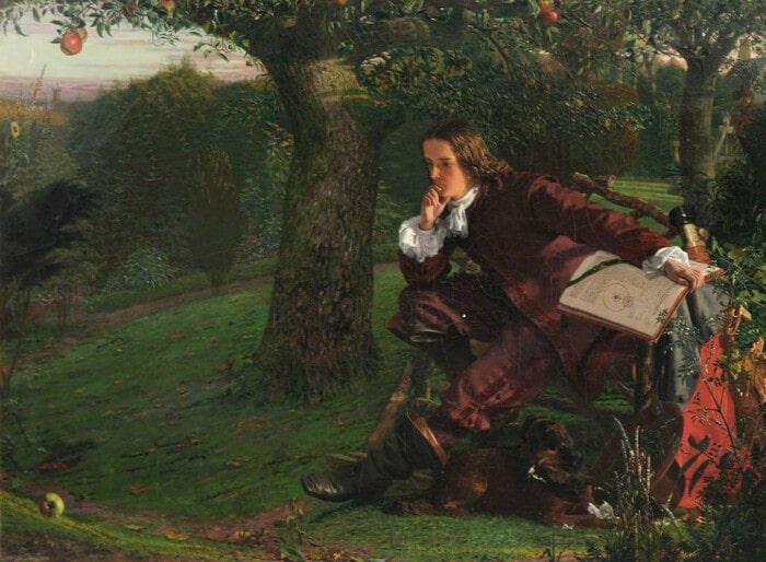 Исаак Ньютон в своем саду
