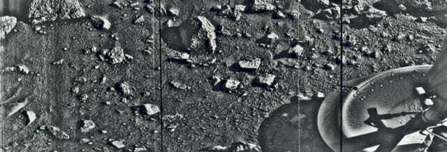 Первая фотография, сделанная на Марсе - 1976