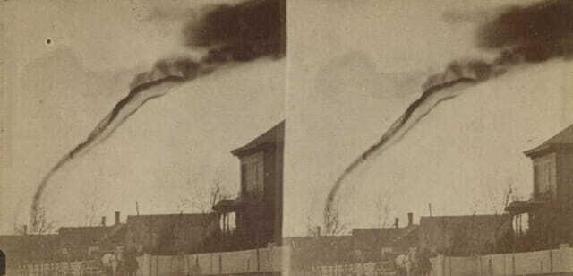 Первая фотография торнадо - 1884