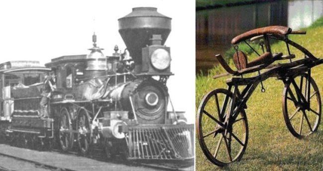 Поезд велосипед