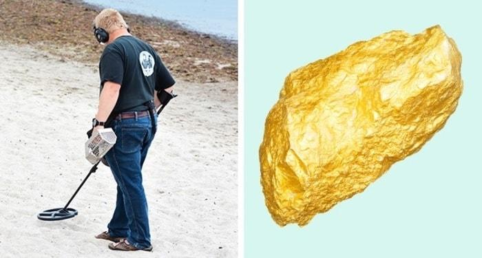 Золотой самородок весом 5,5 кг