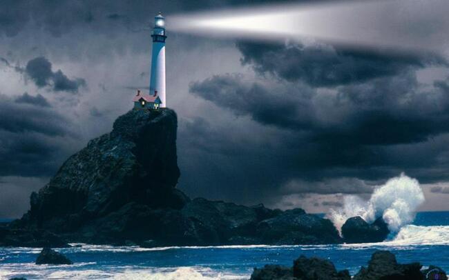 дальность света маяка