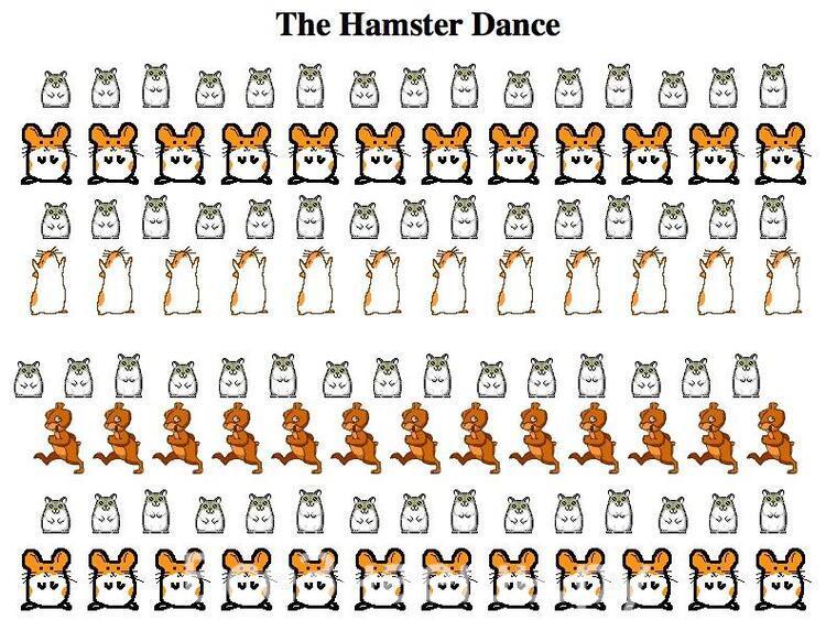 Веб-сайт hampsterdance