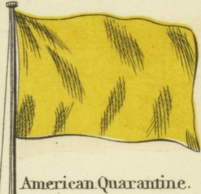 сигнальный флаг QUEBEC