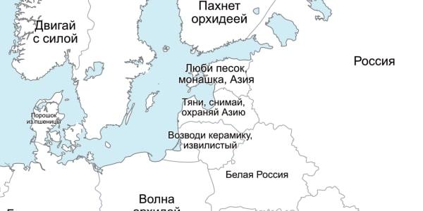 Как с китайского переводятся названия европейских стран