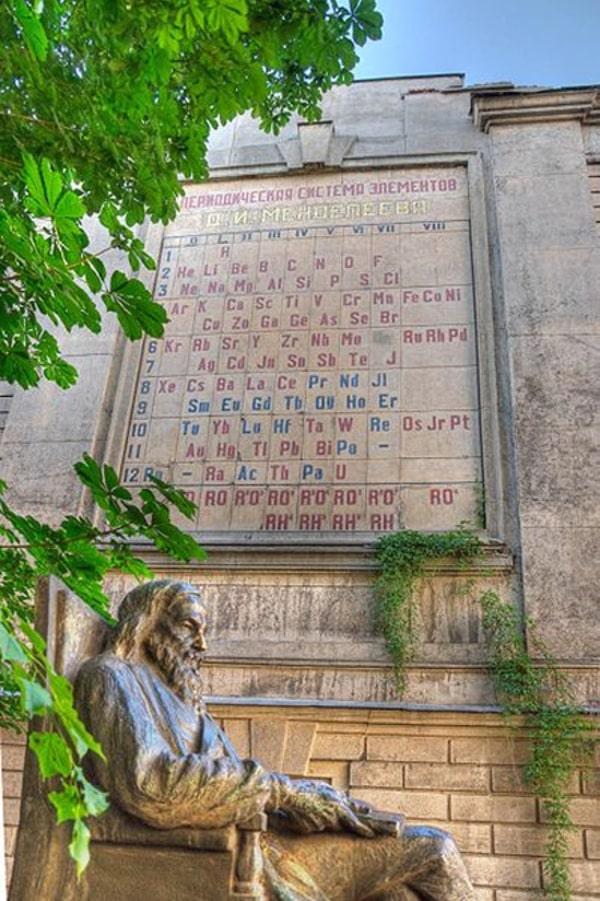 Памятник Дмитрию Менделееву в Санкт-Петербурге, Россия
