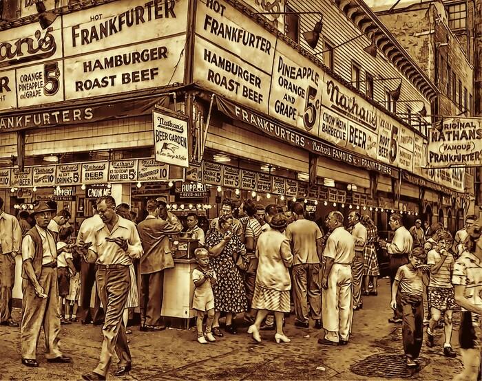 хот-доги на Кони-Айленде в 1946 году
