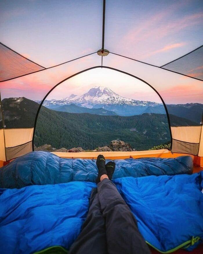 Гора Рейнир, закат