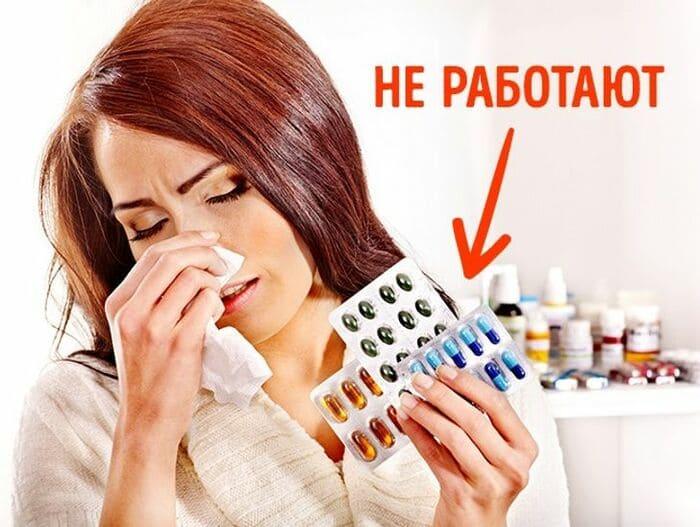 Антибиотики бесполезны при гриппе