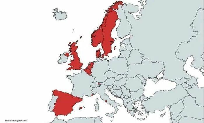 Европейские страны, в которых сохранилась монархия