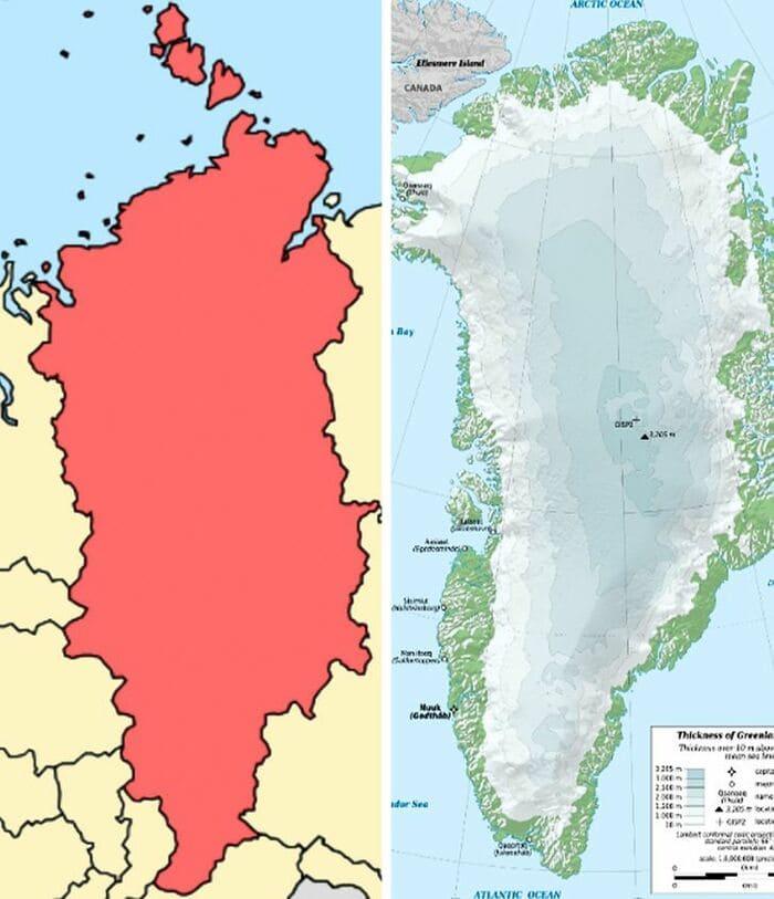 Гренландия и Красноярский край