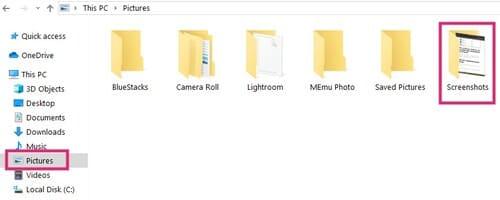 Сделайте снимок экрана в Windows