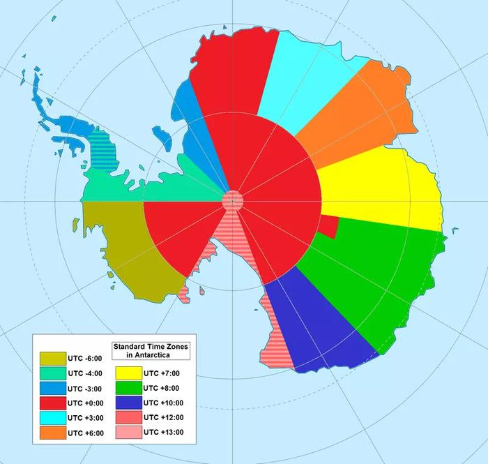 Странные часовые пояса Антарктиды
