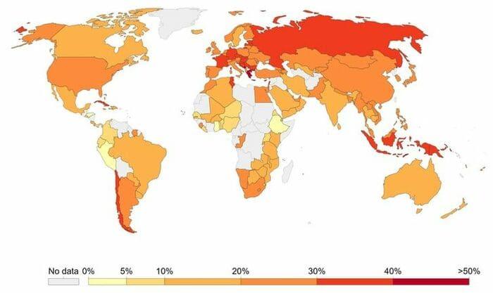 В каких странах люди курят больше всего