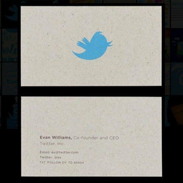 Визитная карточка Эвана Уильямса