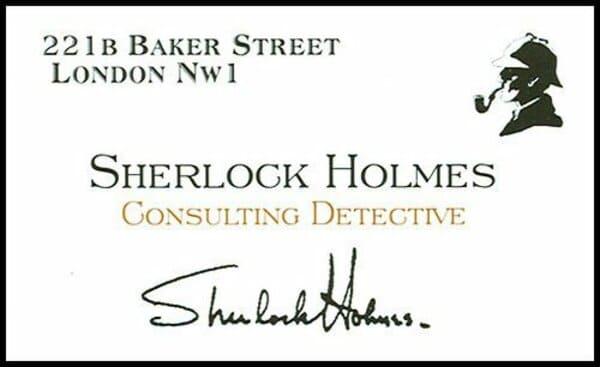 Визитная карточка Шерлока Холмса