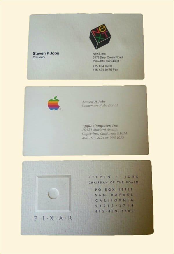 Визитная карточка Стива Джобса