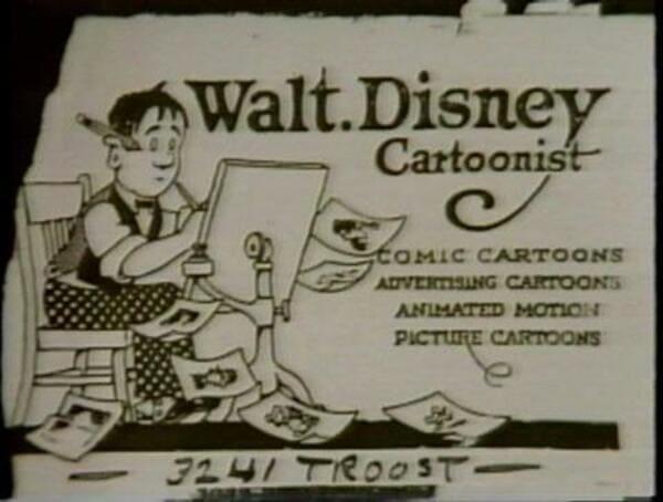 Визитная карточка Уолта Диснея
