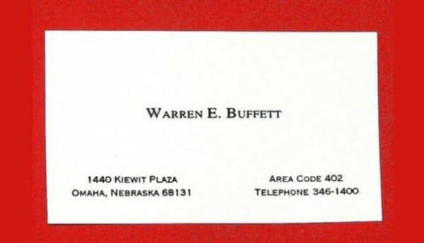 Визитная карточка Уоррена Баффета