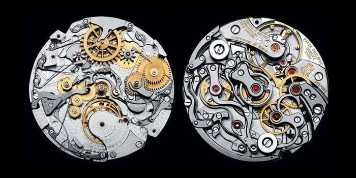 Внутренний механизм часов Patek Philippe
