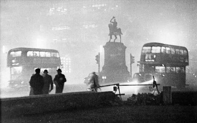 Во время Большого лондонского смога