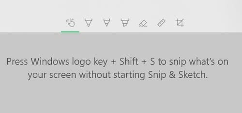Windows Key + Shift + S