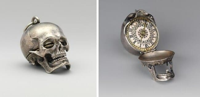 карманные часы-череп