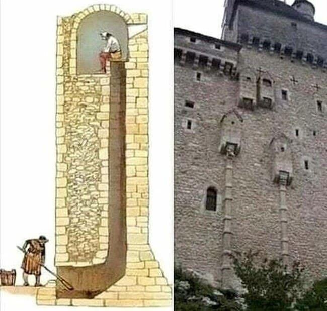 средневековый туалет