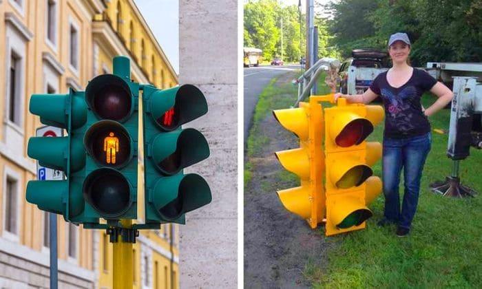 светофоры гораздо больше